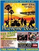 The Beach is Back! May 23, 12-5 PM at Hueneme Beach Park
