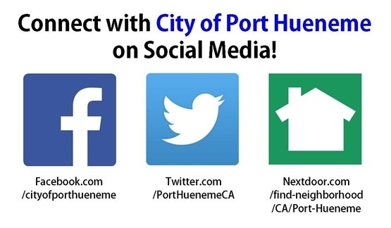 Connect with City of Port Hueneme on Social Media!