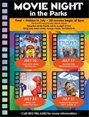 Friday Night Movies in the Park, Beginning July 10