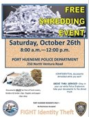 Shredding Event - Police Department