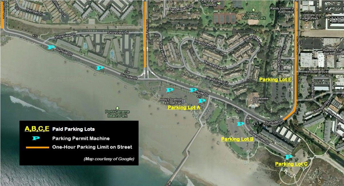 Beach Parking Map