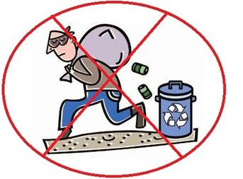 Prevent Recyclables Theft